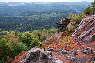 Photograph - Autumnal Contemplation. Bohemian Switzerland  by Jenny Rainbow