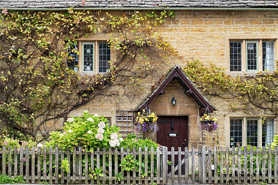 Photograph - Autumnal Cottage Bourton On The Water by Tim Gainey