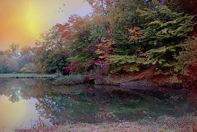 Photograph - Autumns Morning by John Rivera