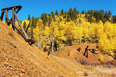 Photograph - Autumn Train Trestle by Steve Krull