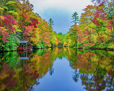 Photograph - Autumn On Mirror Lake by Andy Crawford