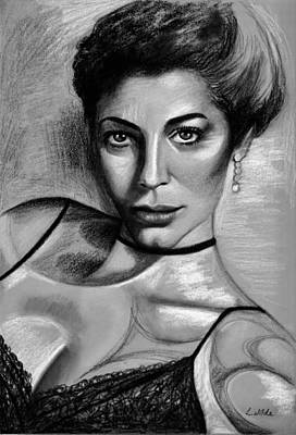 Drawing - Ava by Lee Wilde-Portraits