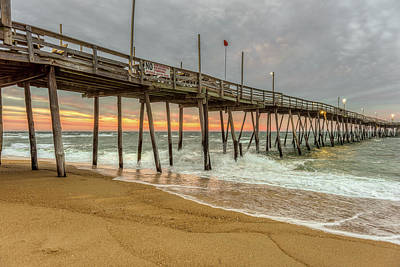 Photograph - Avalon Pier - Kill Devil Hills Nc by Norman Peay