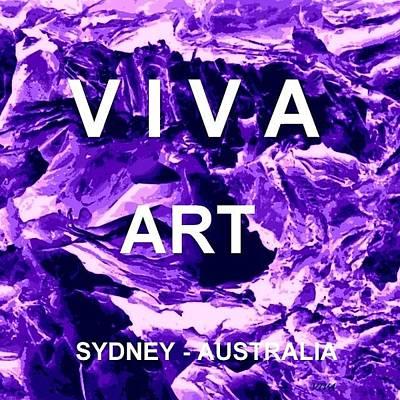 Digital Art - Avatar Purple- Viva Art by VIVA Anderson