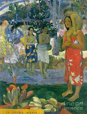 Painting - Ave Maria, Hail Mary by Paul Gauguin