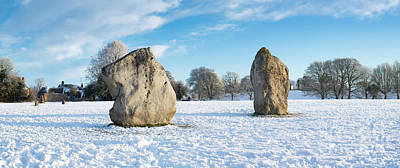 Photograph - Avebury Stone Circle In The Snow Panoramic by Tim Gainey