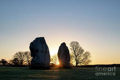 Avebury Stone Circle Sunrise Art Print by Tim Gainey