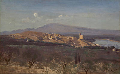 Painting - Avignon From The West  by Jean Baptiste Camile Corot