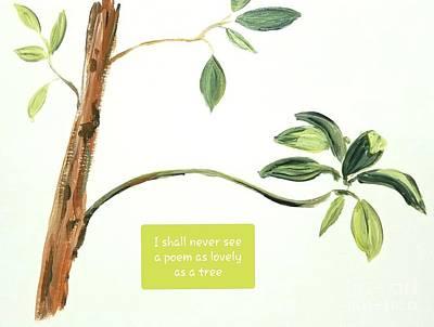 Painting - Avocado Tree #2 by Maria Langgle