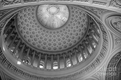 Photograph - Awesome Detail Dome San Francisco Black White  by Chuck Kuhn
