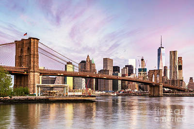 Photograph - Awesome Sunrise Over New York Skyline by Matteo Colombo