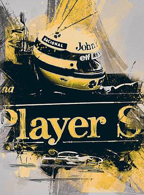 Painting - Ayrton Senna - 47 by Andrea Mazzocchetti