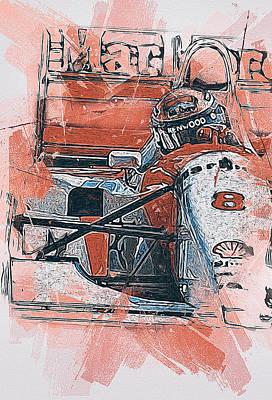 Painting - Ayrton Senna - 48 by Andrea Mazzocchetti