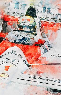 Painting - Ayrton Senna - 49 by Andrea Mazzocchetti