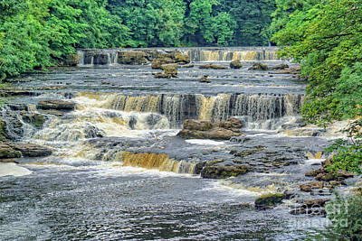 Photograph - Aysgarth Fall, Yorkshire. by David Birchall