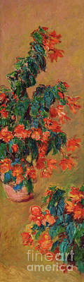 Painting - Azaleas Rouges En Pot, 1883  by Claude Monet