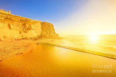 Photograph - Azenhas Do Mar Beach by Benny Marty