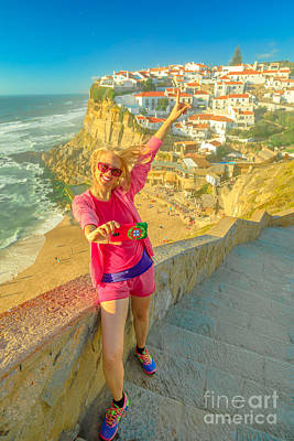 Photograph - Azenhas Do Mar Selfie by Benny Marty