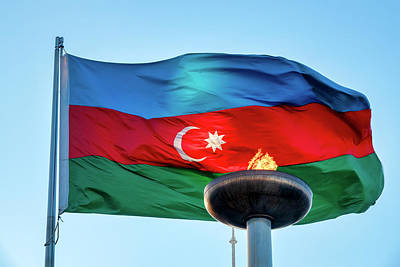 Photograph - Azeri Flag  by Fabrizio Troiani