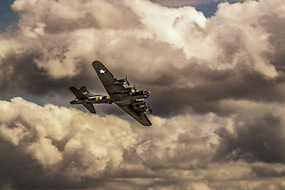 Photograph - B-17 Sally-b In Flight by Scott Lyons