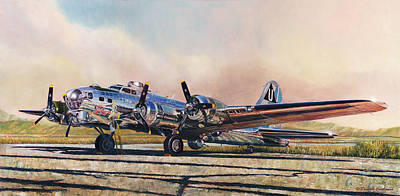 Painting - B-17g Sentimental Journey by Douglas Castleman