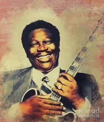 Music Paintings - B. B. King, Music Legend by Esoterica Art Agency