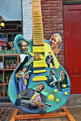 Photograph - B. B. King Tourist Guitar - Beale Street by Allen Beatty
