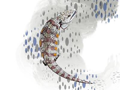 Child Wall Art - Digital Art - B Is For Blue Tongue Lizard by Joan Stratton