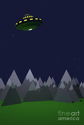 Digital Art - B Movie Ufo Invasion by Clayton Bastiani