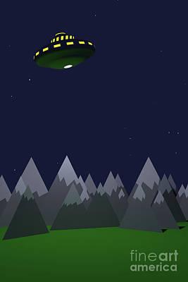 Digital Art - B Movie Ufo Invasion by Clayton Bastiani