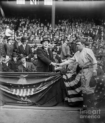 Babe Ruth Wall Art - Photograph - Babe Meets The President by Jon Neidert
