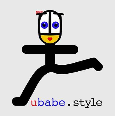 Digital Art - Babe Runner by Ubabe Style