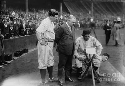 Babe Ruth Wall Art - Photograph - Babe Ruth 1923 by Jon Neidert