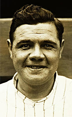 Photograph - Babe Ruth by Paul Thompson