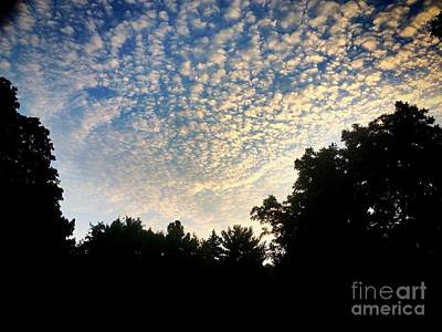 Frank J Casella Royalty-Free and Rights-Managed Images - Baby Clouds by Frank J Casella