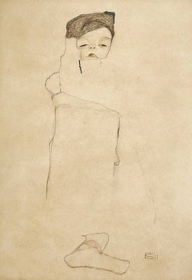 Drawing - Baby by Egon Schiele