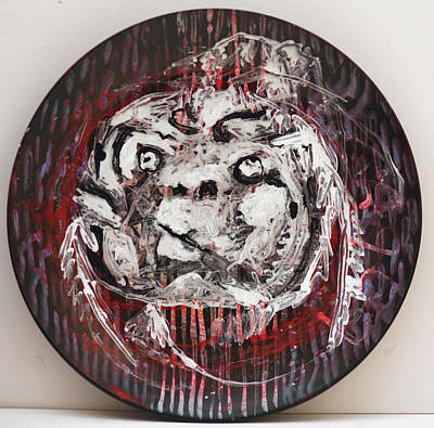 Ceramic Art - Baby Faced Plate by Artist Dot