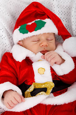 Photograph - Baby Santa Sleeping by Doc Braham
