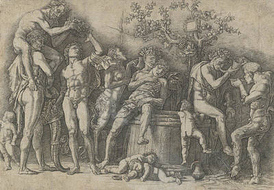 Relief - Bacchanal With Wine Vat by Andrea Mantegna