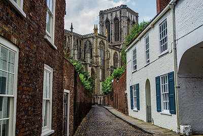 Photograph - Back Alley To York Minster by Scott Lyons