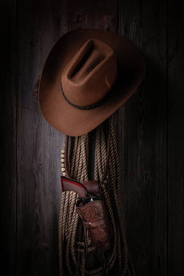 Cowboy Photograph - Back At The Bunkhouse by Tom Mc Nemar