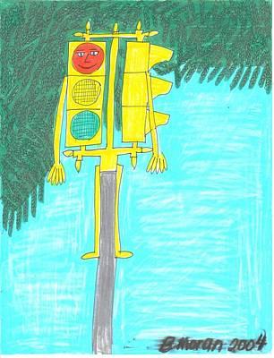 Drawing - Back At Work by Barb Moran