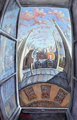 Painting - Back Bay- Paris by Linda Mccluskey