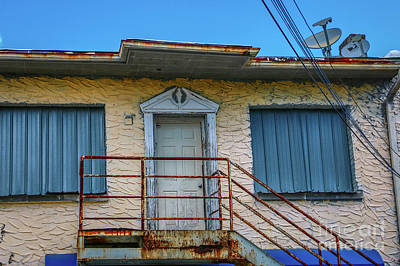 Photograph - Back Door Stairway by Tom Claud