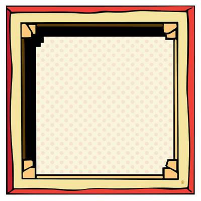 Digital Art - Back Of Framed Canvas by Gary Grayson