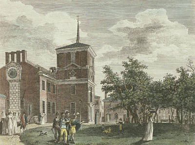 Drawing - Back Of State House by William Birch