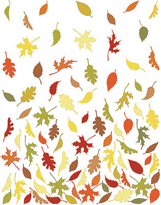 Background Pattern Of Falling Autumn Art Print by Photos.com