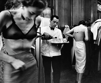 Clothing Photograph - Backstage by Kurt Hutton