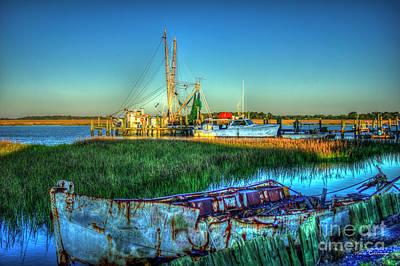 Photograph - Backwater Shrimp Gear Charleston South Carolina Art by Reid Callaway