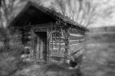 Photograph - Backyard Shed Black And White by Sharon Popek